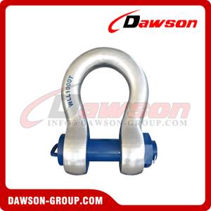 Large WLL Shackle with Circular Cross-Section, Alloy Steel Heavy Duty Bolt Type Round Body Shackle