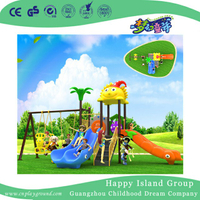 Small Plastic Slide And Swing Combination Set For Kids (BBE-B41)