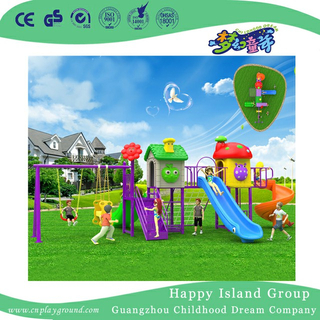 Outdoor Kindergarten Plastic Slide and Swing Combination Set (BBE-A38)