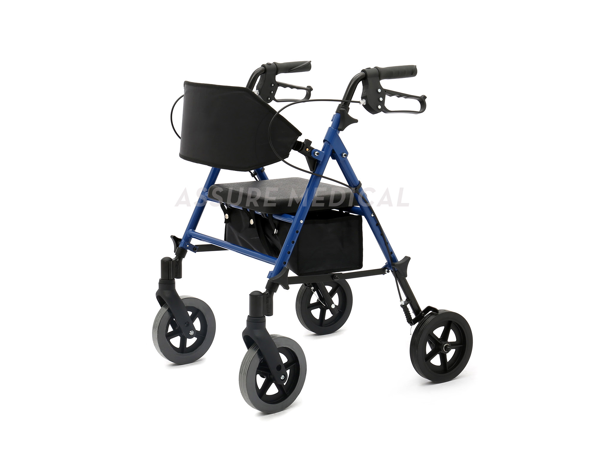 "Aluminum Rollator, adjustable seat height, 8"" wheels (AL-4200CA)"
