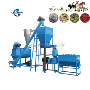 CE Approved 1t/h animal feed pellet production line