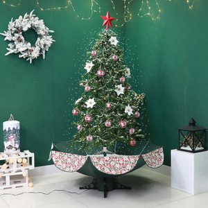 2020 New Snow Christmas Tree with Umbrella Base