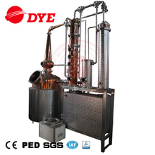 factory price pot still distiller with copper helmet for stripping