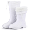 Food industry white lightweight cotton lining winter EVA boots for work