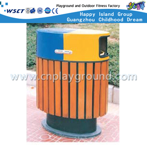 M11-13812 High Quality Wood Trash Can Garden Trash Can