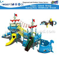 Outdoor High Layer Pirate Ship Galvanized Steel Playground Equipment for Children(HD-3401)
