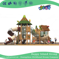Outdoor Large Wooden Combination Slide Playhouse Playground 1907101