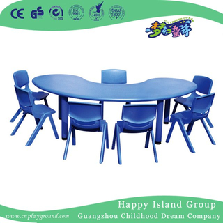 Kindergarten Simple Curved Plastic Table for Children (HG-5103)