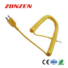 CCP-K Coiled Cords With Molded Mini Plug Thermocouple (ANSI)