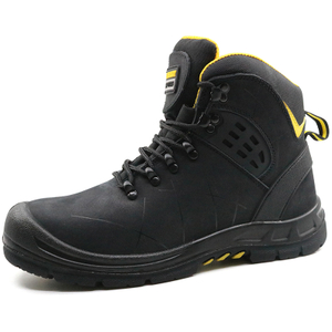 Tiger master brand slip resistant leather work boots with steel toe