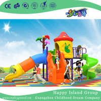New Outdoor Red Mushroom House Children Playground with Cylindrical Slide (H17-A18)