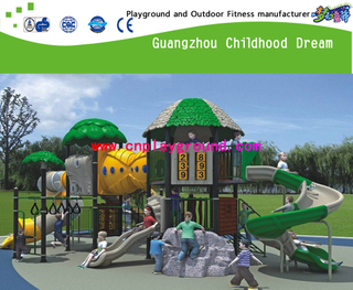 Green Roof Children Combination Slide Sevilla Galvanized Steel Playground Game