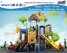 Outdoor Tree House Type Galvanized Steel Playground with Bee Animal Equipment (HF-16203)