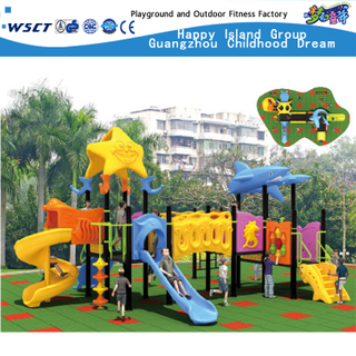 Design Dolphin Model Galvanized Steel Sea Breeze Playground for Children (HD-2502)