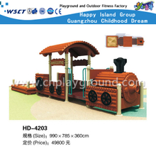 Outdoor Train Model Galvanized Steel Playground for Children Play (HD-4203)