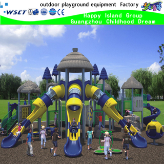 Hot Sale Outdoor Playground Equipment with 2 Colors Slide (HK-50003)