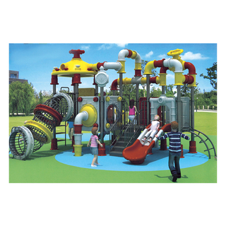 Amusement Park Outdoor Water Pipe Shaped Galvanized Steel Playground (HJ-11201)