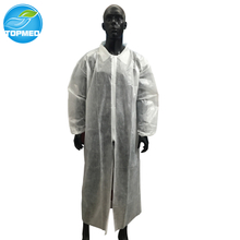 Disposable lab coat with front ziper