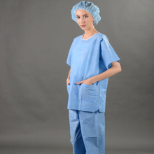 SMS Scrub Suit with V-collar, Medical Sms Scrub Suit