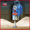 (LV180W-SS) Red-House Rainproof Christmas Snowing Streetlamp with Music 180cm