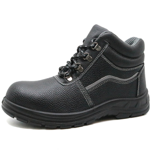 SB-P standard leather steel toe industrial safety work shoes