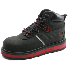 PU injection leather composite toe construction safety boots shoes