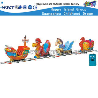 4 Seats Cartoon Design Round Small Electric Railway Train (A-10402)