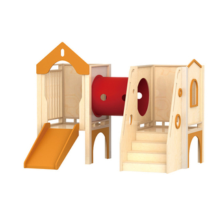 Kindergarten Indoor Wooden Small Slide Playground (HJ-2001)
