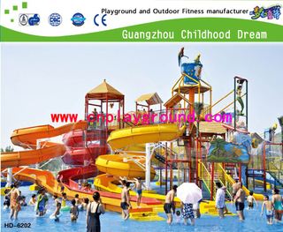 Outdoor Hotel Family Aqua House Combination Playground