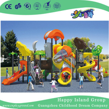 Middle Sea Breeze Galvanized Steel Children Playground with Double Layer Cylindrical Slide (HG-10002)