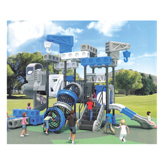 Kindergarten Blue Galvanized Steel Slide Combination Playground (HJ-11301)