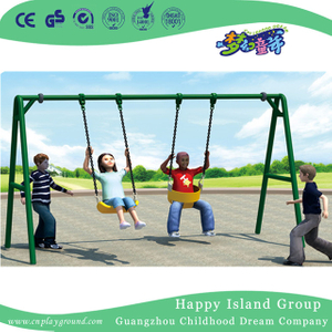 Outdoor Metal Double Toddler Swing Equipment (HJ-18606)
