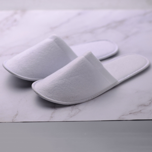 Disposable hotel use towel slippers with EVA shoe sole