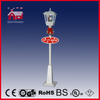 (LV180G-WW) White Street Lamp with LED Lights Snowman Inside Christmas Decoration