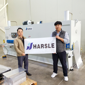 HARSLE Guillotine Shearing Machine in South Korea, Sheet cutting machine Reviews