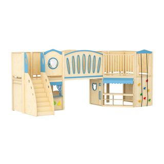 Kindergarten Indoor Wooden Playground for Kids Role Play (HJ-1801)