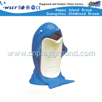 Outdoor Cartoon Animal Dolphin Trash Can For Park Equipment (M11-14201)