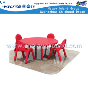 School Plastic Furniture Red Round Table for kids (M11-07603)