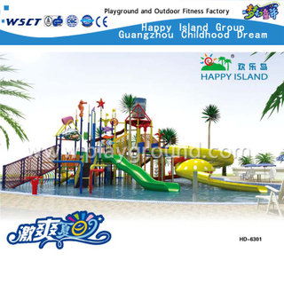 Hotel Or Amusement Park Swimming Pool Water Slide Playground (HD-6301)