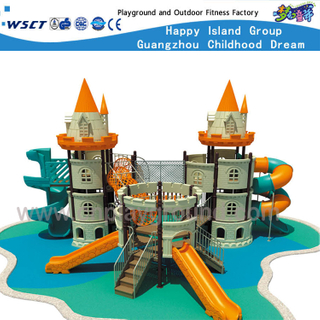 Castle Series Children Adventure Galvanized Steel Playground Equipment HF-15801