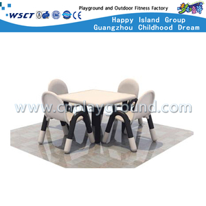 High Quality Children Plastic Gray Square Table Furniture (M11-07606)