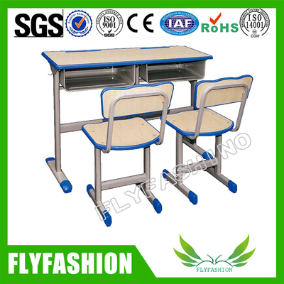 High Quality Simple Design Student Desk and Chair Set (SF-27D)