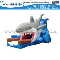 Outdoor Shark Design Inflatable Slide for Children Adventure (HD-9502)
