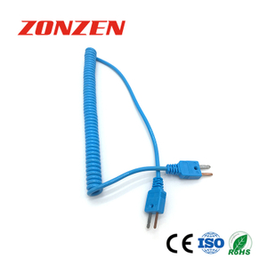 CCP-T Coiled Cords Thermocouple With Molded Mini Plug