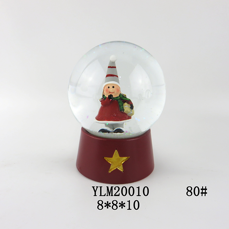 Christmas Water Globe with Resin Base