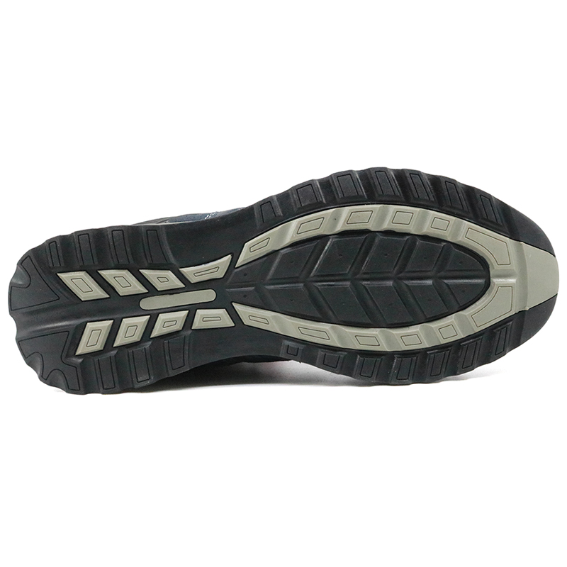 Abrasion resistant rubber sole steel toe fashion sport safety shoes for women