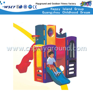 Outdoor Small Size Plastic Toys Combination Slide Playground for Toddler (M11-09107)