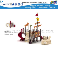 High Quality Outdoor Children Galvanized Steel Pirate Ship Playground(HD-3502)