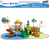 Animal Cartoon Children Galvanized Steel Playground with Slide Equipment(HD-2801)