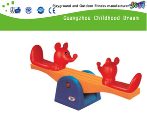 Commercial Animal Cartoon Plastic 2 Seats Seesaw